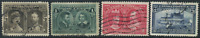 Canada #96-99 used VF 1908 Quebec Tercentenary Part Set CV$121.00