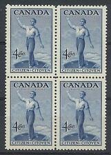 Canada 19476 Sc# 275 set Citizen of Canada block 4 MNH