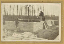 Carte Photo vintage card RPPC construction maison ouvrier maçon 1928 ph0244