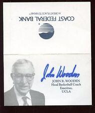 John Wooden Ucla Ncaa Basketball Coach Bank Card Autographed Hologram