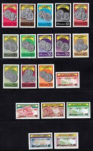St. Vincent stamps #1069 - 1086a, MNHOG, XF, complete set, SCV $34.90