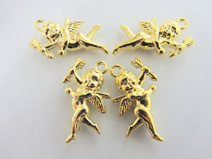 10 Cupid Angel Gold Plated Love Charm/DIY Craft/Finding/beading/Scrapbooking K33