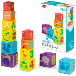 Wooden Shape Sorting Building Blocks - Baby Toy  Pre-school Toy - Wooden Toy-New