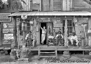 Old Store, Texaco Gas & Kerosene Pumps, Gordonton, NC 1939 - Vintage Photo Print