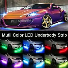4pcs Multicolor LED Neon Glow Strip Under Car Light Tube Underbody Kit Fit Lexus