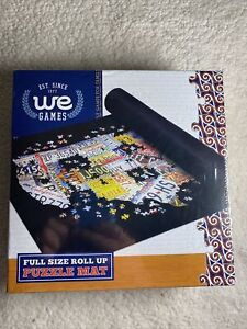 WE Games Roll Up Jigsaw Puzzle Saver FELT Mat & Tube - 36 in x 30 in NEW