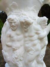 Pichet en porcelaine biscuit,Silenus de parian,Minton,Anglais Pitcher,XIXeme.