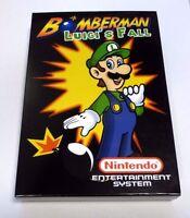 Bomberman: Luigi's Fall - Nintendo NES Puzzle Game With Box!