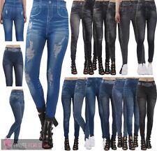 Full Length Denim Look Leggings for Women