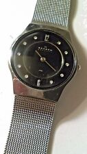Vintage Skagen Women's Mesh Band - Black Face - Quartz Watch.