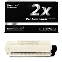 2x Eurotone Pro Toner Black for Oki C-5600-DN C-5600-N C-5700-N C-5700-DN