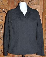 Women's Chico's Black Jacquard Jean Style Jacket - Size:0