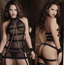 Sexy Lingerie Sleepwear Lace Women G String Dress Underwear Babydoll Nightwear