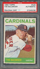 1964 Topps #429 Tim McCarver PSA/DNA Certified Authentic Auto Autograph *5236