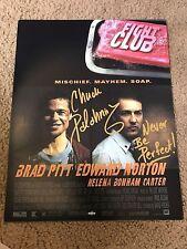 Chuck Palahniuk Autographed 11x14 Photo Fight Club PROOF