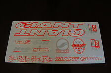 Giant Stickers Set  White, Orange & Silver.  XTC SE1