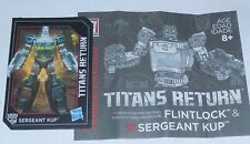 Transformers Titans Return SERGEANT KUP Figure's BIO and MANUAL
