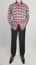 Men Shirt J.Valintin Turkey Egyption Cotton Axxess Style A113-10 Christmas Red