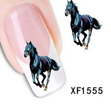 Nail-Art Sticker Water Transfer Stickers Black Horse Decals Tips Decoration WBCA