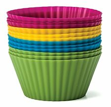 Baking Essentials 2 pack- 24 pc Colorful Silicone cupcake Molds/Holder GR8 GIFT