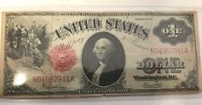 1917 $1 Saw Horse Large Size United States Note in Plastic Sleeve