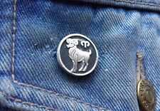 ARIES MARCH21-APRIL19 Star Sign Pewter Pin Badge