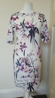 M&S Collection Floral Print Shift Wiggle Dress Size 10