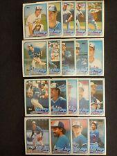 41 Toronto Blue Jays 1989 Topps Baseball Cards 19 Unique 22 Duplicates + 1 Bonus