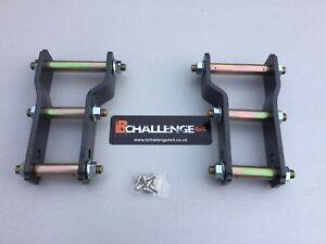 "Rear lift kit plus 50mm 2"" Lift Shackles 06-15 to fit Mitsubishi L200 Triton"
