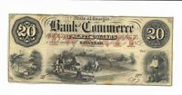 $20 1862 Georgia Savannah Bank of Commerce Currency dated not issued AU #697