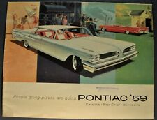 8 1//2 x 11 9-59  #3MM Original 1960 Pontiac Sales Brochure 14 pages w//o Covers