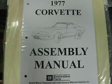 1977 77 CORVETTE (ALL MODELS) ASSEMBLY MANUAL