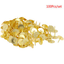 50PCS/set Butterfly Clutch Tie Tacks Pin Back Replacement Blank Pins GoldLDRCF