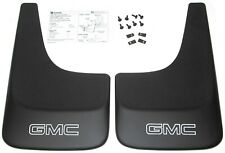 Envoy Jimmy Black Contoured Mudflaps Mud Flaps W/ Logo NEW GENUINE GM PAIR 394