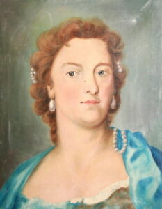 1972 European Female Portrait Oil Painting, Signed