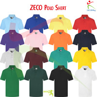 ZECO New Unisex Boys Girls Polo Poly Cotton Casual Half Sleeve Kids Polo Shirt