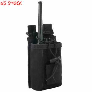 Heavy Duty Molle Radio Pouch Belt Holder Adjustable Walkie Talkie Bag Holster