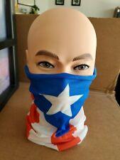 Puerto Rico flag tube bandanna Neck Gaiter polaina cuello Bandera Boricua