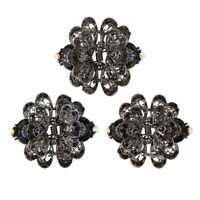Womens Metal Butterfly Hair Claw Grips Crystal Hair Jaw for Wedding Bridal