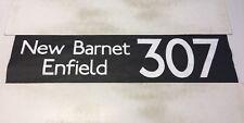 "Bus Blind Enfield DDI London  (42"") 307 New Barnet Enfield"