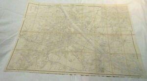 """VTG VIENNA MAP LINEN BACKED ZENTRUM VON WIEN 31"""" BY 43"""" BEAUTIFUL WWII ERA MAP"""