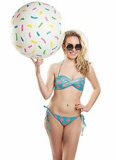 Giant Donut Hole Beach Ball 20 IN Inflatable Beach Ball Pool Party Water Toy NEW