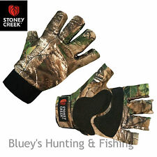 Stoney Creek Fingerless Hunting Gloves hunting gloves Realtree Camo, Code 7095