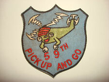 US 59th TRANSPORT Heilicopter Company PICK UP AND GO Vietnam War Patch