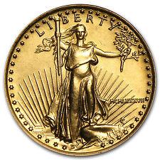 1987 1/4 oz Gold American Eagle BU (MCMLXXXVII) - SKU #4706