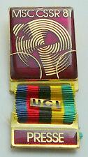 1981 UCI CYCLING World Championships PRESS pin BADGE rare