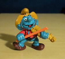 Smurfs Fiddler Cowboy Smurf Violin Fiddle Vintage Figure PVC Toy Figurine 20159