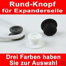 10x Rundknopf  3 Farben zur Auswahl  6-8mm Expanderseil