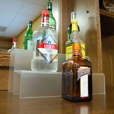 Liquor Bottle Shelf 18-inch 2 Tier - Translucent - Bar Pub Alcohol Display Decor