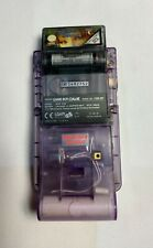 RARE NINTENDO GAMEBOY COLOR CONSOLE ATOMIC PURPLE WITH GAME CARTRIDGE